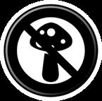 Znak z przekreślonym grzybem, pleśnią