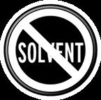 Znak z przekreślonym napisem rozpuszczalniki